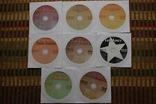 8 CDG KARAOKE DISCS 1950'S & 1960'S OLDIES SUPERSTAR HITS CD+G SINATRA,TOM JONES