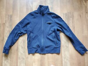 LULULEMON men's small full zip activewear jacket nylon spandex lyrca navy blue