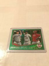 2013 Topps Emerald #81 Clayton Kershaw Johnny Cueto R.A. Dickey League Leaders
