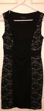Sexy Women's Little Black Cocktail Dress with Lace & Figure Flattering Sides!