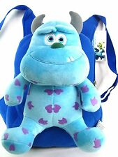Brand new Pixar Monsters Inc. Sulley doll plush Backpack school bag