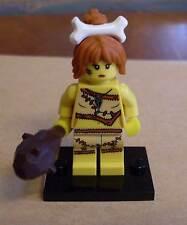 Lego Figur Cave Woman Steinzeit Frau Hölenmensch mit Keule Col Min. Serie 5 Neu