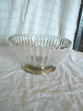 Lovely glass bowl with silver base England