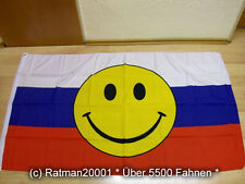Fahne Flagge Russland Smiley - 90 x 150 cm