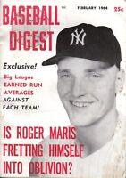1964 (Feb.), Baseball Digest,  magazine, Roger Maris, New York Yankees ~ Fair
