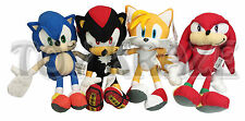 "SONIC THE HEDGEHOG X TAILS SHADOW & KNUCKLES PLUSH SET! 4 PC SOFT DOLLS 10"" NWT"