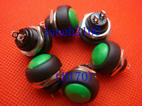 12PC Red// Green// Blue// Black Push Button Horn Switch B170