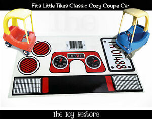 Replacement Stickers fits Vtg Classic Little Tikes Cozy Coupe Decals Car Red