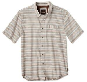 prAna Reflect Shirt Men short-Sleeved Function Shirt Khaki
