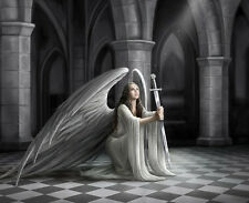 """Poster for Gothic Art Anne Stokes Angel Rose Art Silk Fabric poster 28 x 24"""""""