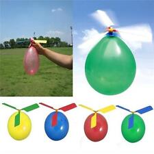 Kids Funny Colorful Balloons Helicopter Birthday Party Present Flying Toy Set W