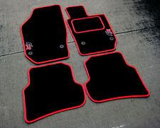 Tapis De Sol Voiture noir/Rouge Bordure Seat Ibiza 6J 08-17 + FR Logos+tapis