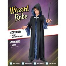 Extra Large Black Children's Wizard Robe - Fancy Dress Costume Outfit Book Week