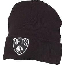 Mitchell & Ness Mens Brooklyn Nets Cuff Knit Beanie Black New