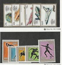 Niue, Postage Stamp, #389-94 (394 Bad Gum), 432-6 Mint NH, 1983 Airplanes
