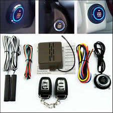12V Remote Control Car Engine Push Start Stop Button 433MHZ Ignition Starter Kit