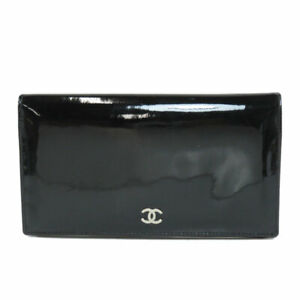 CHANEL   Long wallet (with Coin Pocket) COCO Mark Patent leather