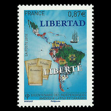 France 2010 - 200th Anniversary of Caribbean Independence - Sc 3925 MNH