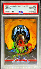 Venom 1993 Marvel Masterpieces #45 GEM MINT PSA 10 POP 11