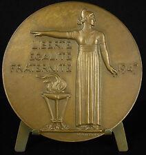 Médaille à Vincent Auriol Président de la République sc P Poisson 1947 Medal