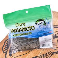 "Gary Yamamoto 4/"" S//T Grub Chalk White 4020-220 Lot Of 12 Packs 20 Count"