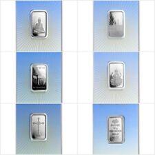 5 x Lingot Suisse PAMP 10g Argent Pur / 5 x 10 Grams RELIGIOUS Fine Silver Bars