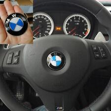 1pcs 45mm Steering Wheel Badge Blue White Emblem Sticker For BMW E36 E46 E60 E90