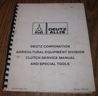 New deutz allis 7085 tractor clutch service manual ebay deutz allis tractor clutch special tools service repair shop manual issued1983 fandeluxe Image collections