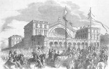 FRANCE. President, Railway station, Paris, antique print, 1852