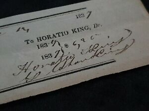 PMG Postmaster General Horatio King Signed Document Autograph USA James Buchanan