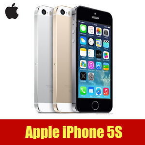 Original Apple iPhone 5S GSM Factory Unlocked 16GB  SILVER GRAY GOLD -Touch ID