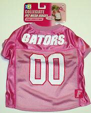 "NWT UF University of Florida Gators Pink Pet Mesh Jersey Dog Costume 14-18"" M"
