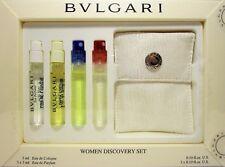 BVLGARI WOMEN DISCOVERY 5 PCS MINI SET 0.10 Oz / 3 ml x 4 + POUCH IN GIFT BOX!!!