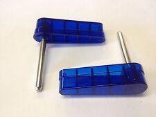 Bally 1970s 1980s Pinball Machine Blue Translucent Flippers Bats Set of 2 Kiss