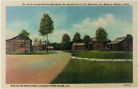 Vintage Petersburg Illinois IL New Salem State Park Lincoln's Hometown Linen