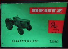 Deutz Schlepper D 40 S Ersatzteilliste