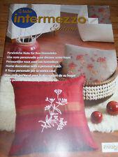 ANCHOR INTERMEZZO EDITION Persönliche Note für Ihre Homedeko Heft Stickvorlagen