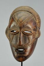Joli masque anthropomorphe TABWA Congo mask African Tribal Art Africain