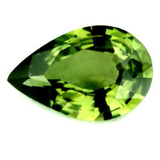 Certified Natural Sapphire 0.97ct Flawless Green Pear 8.22 x 5.37mm Madagascar