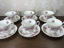 More details for vintage royal albert lavender rose tea cup & saucer afternoon tea