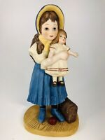 "Jan Hagara Figurine ""LISA AND THE JUMEAU DOLL"". Hand-numbered Limited Edition"