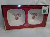 Lenox Winter Greetings, Set of 2 Dipping Bowls - New in Box, Retail $30 - Birds