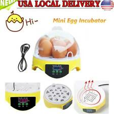 Digital Egg Incubator Automatic Turning 7 Eggs Poultry Hatcher Chicken Duck Bird