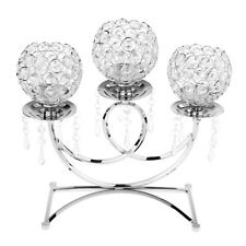 Crystal Votive Tea Light Candle Holder Candlestick Home Wedding Decor Silver