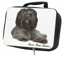 More details for tibetan terrier 'love you mum' black insulated school lunch box ba, ad-tt2lymlbb