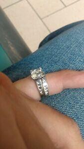 White gold wedding rings for women sets