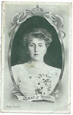 "ROYALTY - QUEEN of SPAIN Stuart ""Yes or No"" 1914 Postcard"