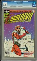 Daredevil #182 CGC 9.6 White Pages Punisher Kingpin app Frank Miller art