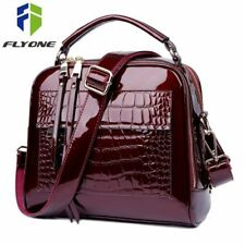 Women Handbag Faux Crocodile Leather Womens Crossbody Bag