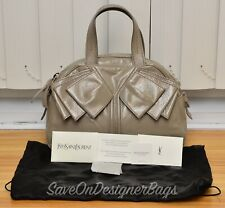 Yves Saint Laurent YSL Y-Bow Mini Handbag Tote GentlyUsed Authentic